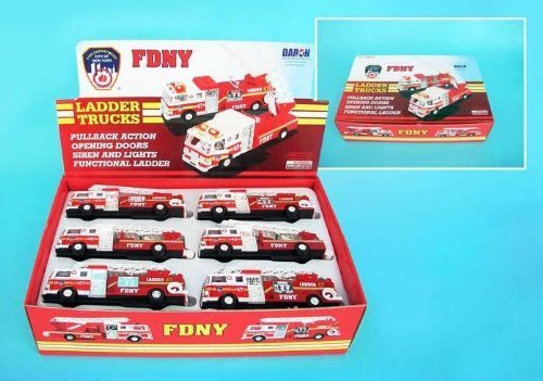 Daron Fire Truck FDNY Official Pull Back Vehicle by Daron