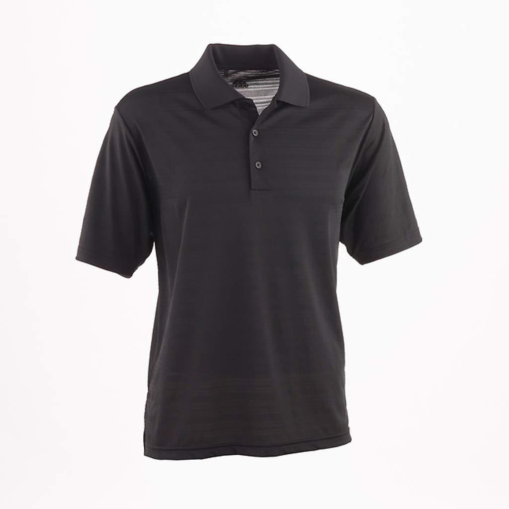 adidas Golf Mens Climalite Textured Short-Sleeve Polo (A161) -Black -S