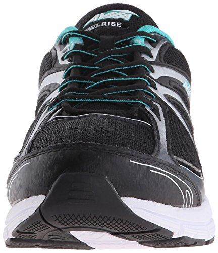 Avia avi-rise de la mujer running Shoe Black-Teal-Grey