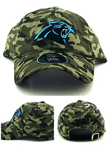 Outerstuff Carolina Panthers New Youth Kids Camouflage Camo Olive Green Slouch Era Hat Cap