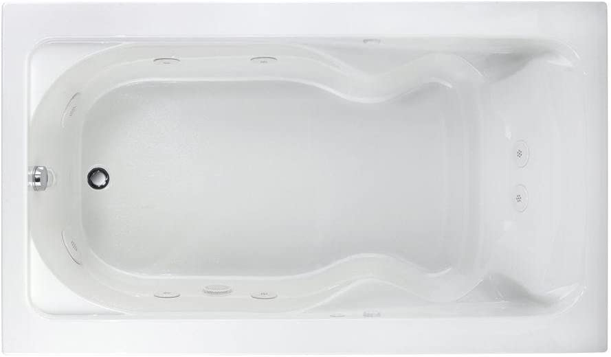 American Standard 2774018W.020 Cadet 6-Feet by 42-Inch Whirlpool with Hydro Massage System-I, White