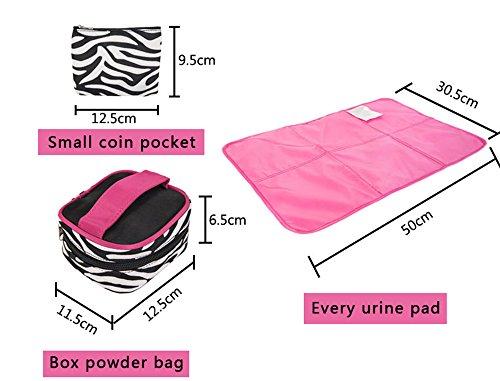 Bolso de la momia de la cebra, paquete de bolsillo seis sistemas de combinaciones, bolso de la momia