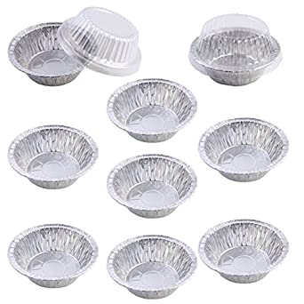 Pack of 9 Mini Disposable Aluminum Foil Pot Pie Pans with Plastic Cover Lids  sc 1 st  Amazon.com & Amazon.com: Pack of 9 Mini Disposable Aluminum Foil Pot Pie Pans ...