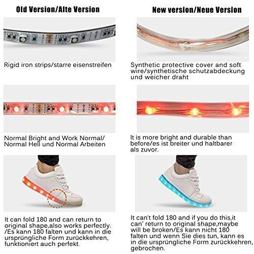 Basket Chaussures Chaussures Été Clignotants Printemps Blanc Automne Avec CE LED Respirante Et pour LED 9 enfant Fille Lumineuse Shinmax Certificat Rechargeable Chaussure Garçon USB 74q6fnxx