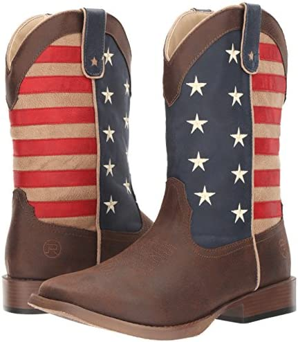 Square Toe 09-119-1902-0380 BR Roper Youth American Patriot Western Boot