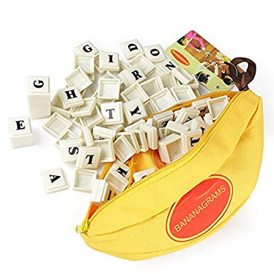 OVERMAL Toy Kids Puzzle English Enlighten Toys Banana Chess Alphabet Spelling Games