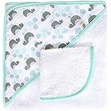 Jj Cole Two-Piece Hooded Towel Set Aqua Whales
