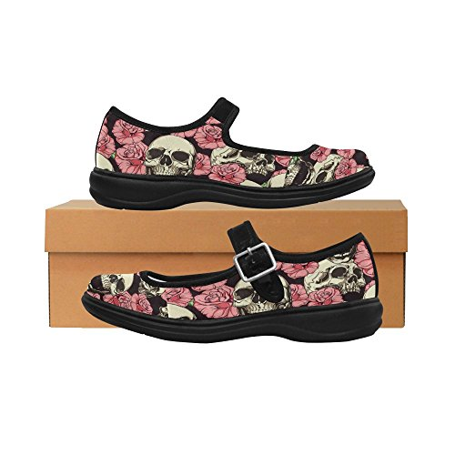 Interestprint Femmes Confort Mary Jane Appartements Casual Chaussures De Marche Multi 5