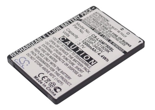 1200mAh Battery For LG GM750, Layla, Eigen LGIP-340NV, SBPL121809K, SBPP0026903