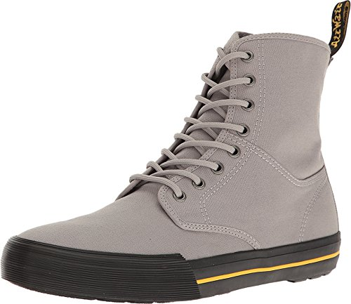Dr. Martens Mens Winsted Combat Boot Mid Grey Canvas Size UK 8 (9 M US Men/10 M US Women)