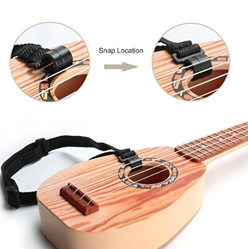 17 Inch Guitar Ukulele Toy For Kids ,Guitar Children Educational Learn Guitar Ukulele With the Picks and Strap Can Play Musical Instruments Toys (17 Inch) - Image 4