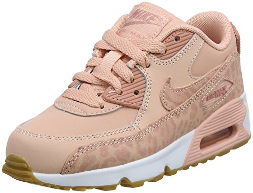 Nike Mädchen Air Max 90 SE LTR (PS) Gymnastikschuhe Pink (Coral Stardust/rust Pink/white 601)