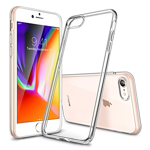 Cover iPhone 8 [Supporta la Ricarica Wireless], Cover iPhone 7, ESR Custodia Puro Trasparente Morbida TPU [Ultra Leggere e Chiaro] Silicone Ultra Sottile Case for Apple iPhone 8/7 da 4.7 pollici.