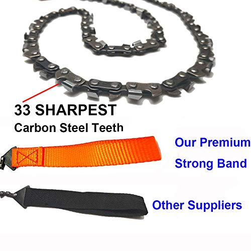 Homyall Pocket Chainsaw 3X Faster with Cutting Blade ON Every Link - 26'' Outdoor Camping Tactical Survival Gear Pocket Chainsaw with Pouch- Bonus Front Snap Carrying Case by Homyall (Image #1)