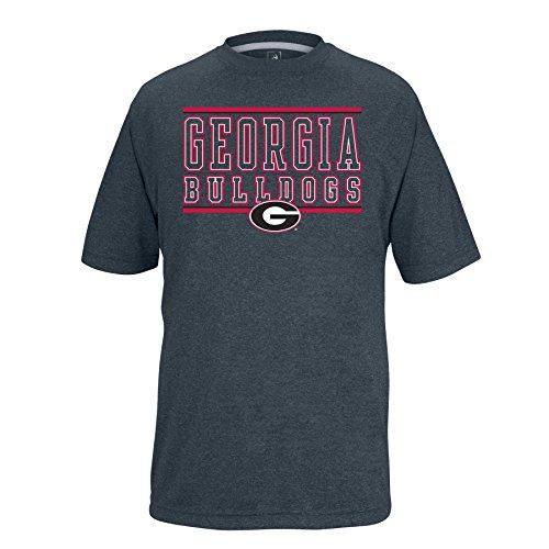Georgia State Bulldogs (NCAA Georgia Bulldogs Boys Youth Bar Design Vital Poly Tee, Charcoal Heather, Small)