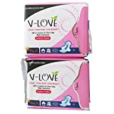 non chlorine maxi pads - V-LOVE Breathable Anion Ultral Thin Pads for Women with Wings, Normal absorbency, Unscented -20 Count (Pack of 2)