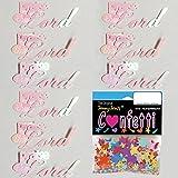 Confetti Word Praise the Lord White Iridescent - Quarter Pound Bag (4 oz) FREE SHIPPING --- (b2609)