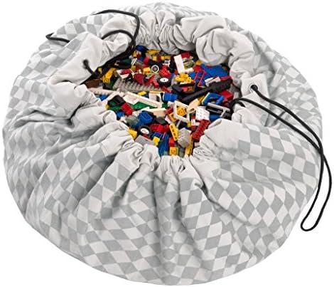 Play&Go プレイアンドゴー おもちゃ 片付け 収納 遊びマット プレイマット 収納バック 直径 140cm ダイヤモンドグレイ【PG9959】