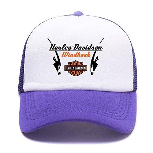 Harley D Black Baseball Caps Gorras de béisbol Trucker Hat Mesh Cap For Men Women Boy Girl 011 Purple