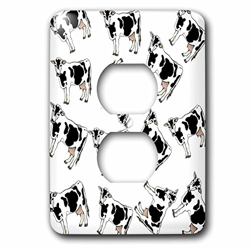 Florene - Décor III - Print of Cartoon Cow Toss Pattern - Light Switch Covers - 2 plug outlet cover (lsp_221631_6)