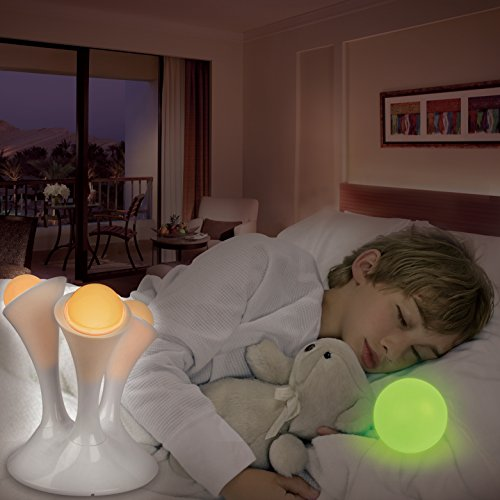 GPCT LED [Portable] Multi Colored Color-Changing Mushroom Shape [Removable] Glowing Globes/Balls/Orb For Kids, Children, Infants, Baby, Bedroom, Sleeping, Camping, Mood Elevation Night Light Lamp]()