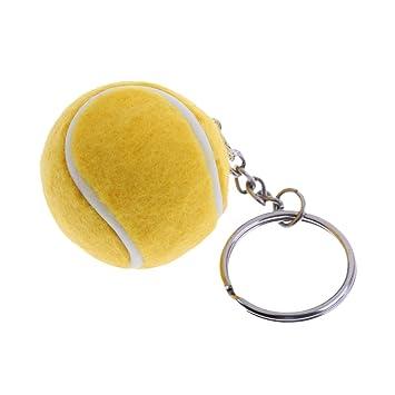Baoblaze 1 Pedazo de Llavero de Pelota de Tenis para ...