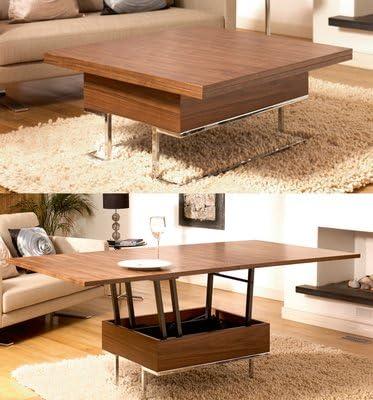 Convertible Coffee Table Walnut Amazon Co Uk Kitchen Home