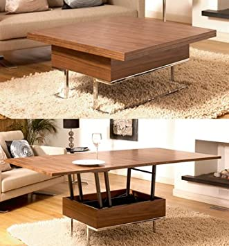 Dwell Coffee Table.Convertible Coffee Table Walnut