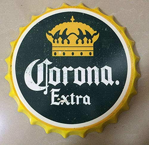 Metal Art Beer , Special Design New Model Retro Bottle Cap Metal Tin Signs Beer Cap Decoration Plates Wall Art Plaque Decoration Home Decoration/bar/cafe Bar(35cm By 35cm), Beer Cap Wall Decor