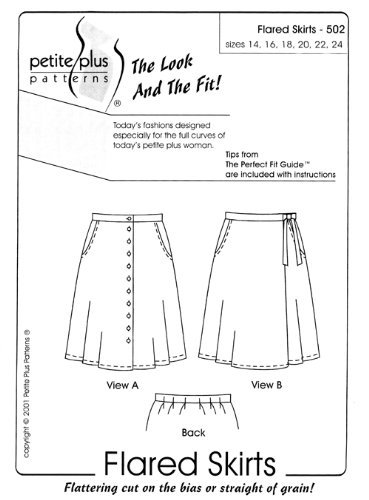 08c2cb68a70 Image Unavailable. Image not available for. Color  Patterns- Petite Plus  502  Flared Skirts
