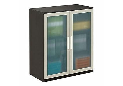 Amazon Storage Cabinet With Glass Doors Espresso Wenge