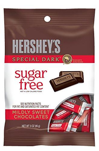 HERSHEY'S SPECIAL DARK Chocolate Bars, Mildly Sweet Dark Chocolate, Sugar Free, 3 Ounce