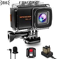 Apexcam 4K 20MP WiFi Action Camera EIS Ultra HD Sports Camera Underwater Waterproof 40M Camcorders External Mic...