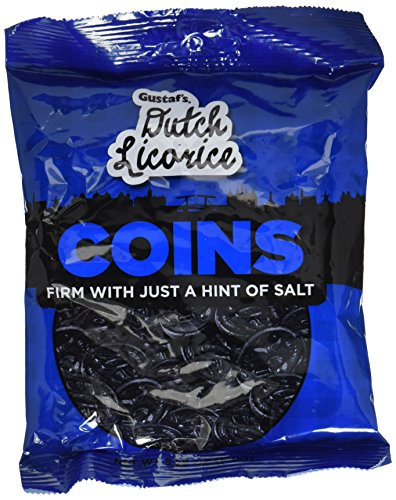 Gustaf's Traditional Dutch Coin Licorice 5.2 Oz Bag (Pack of 3)