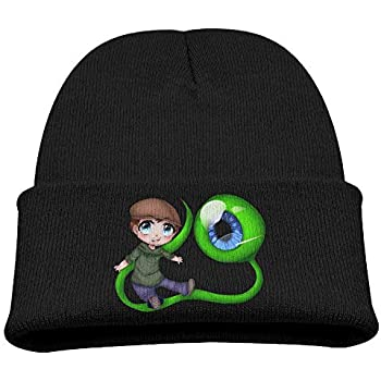 Dunpaiaa Skull Caps Pink Breast Cancer Heart Winter Warm Knit Hats Stretchy Cuff Beanie Hat Black