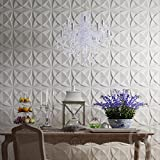 interior wood paneling Art3d Plant Fiber Textured 3D Wall Panels for Interior Wall Decor, 33 Tiles 32 Sq Ft