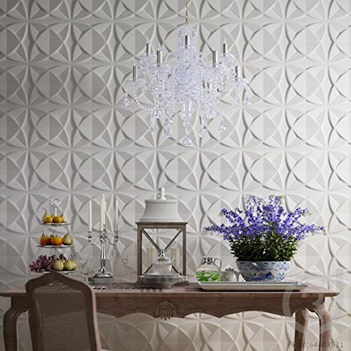 Art3d Plant Fiber Textured 3D Wall Panels for Interior Wall Decor, 33 Tiles 32 Sq - Panels Wall 3d Textured