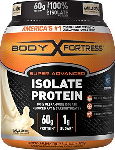 Body Fortress Super Advanced Whey Protein Isolate Powder, Gluten Free, Vanilla, 1.31 ()