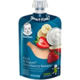 Gerber Purees Strawberry Banana Yogurt Toddler Pouch (Pack of 12)
