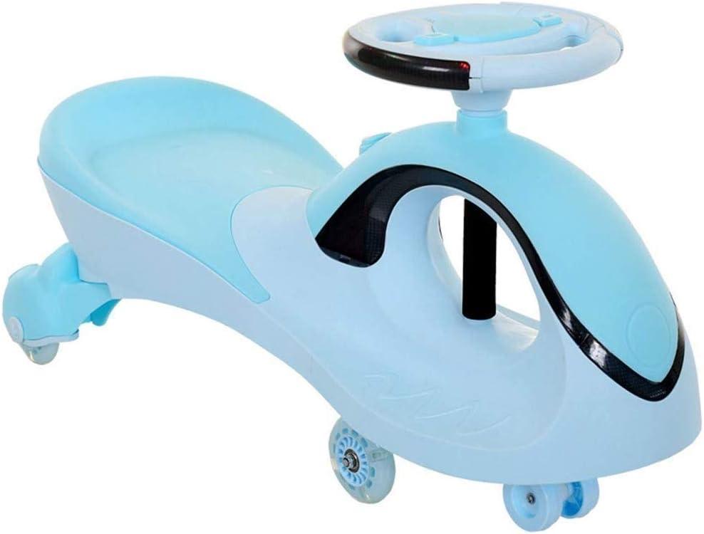Triciclo for niños pequeños de 4 ruedas paseo en la bicicleta-Walker bicicleta de equilibrio del triciclo del bebé infantil Caminar juguetes del bebé paseo del coche 1 A 3 Años, patinete (Color: Verde