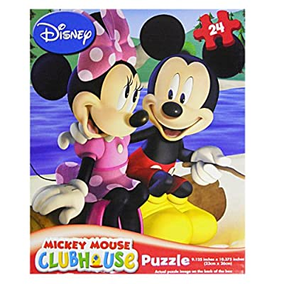 Cardinal Mickey Mouse Clubhouse 24 Piece Puzzle Assorted Styles: Toys & Games