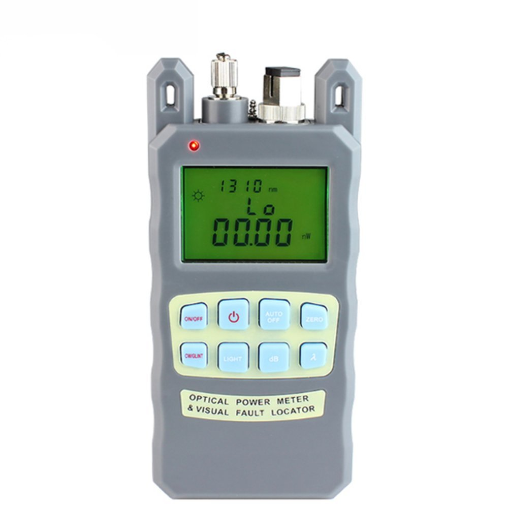 Optical Fiber Cable Tester -70 to +10dbm and 1mw Visual Fault Locator Portable Optical Power Meter with SC and FC Connector Fiber Tester, Batteries Included