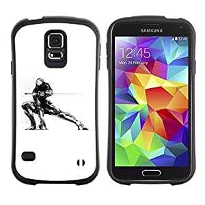 "Hypernova Slim Fit Dual Barniz Protector Caso Case Funda Para Samsung Galaxy S5 [Samurai Mech Warrior""]"