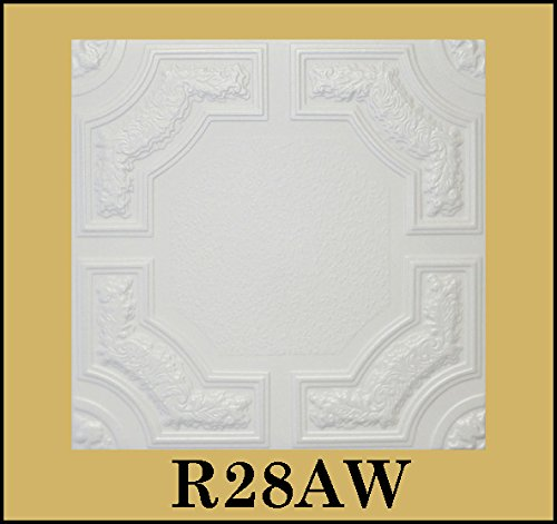 tin-look-glue-up-ceiling-tiles-20x20-styrofoam-extruded-polystyrene-r28aw-lot-of-8