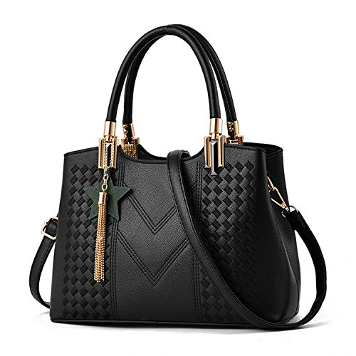 Levingbag 2018 fashion shoulder embroidered line handbags portable large bags by Leving Wallets