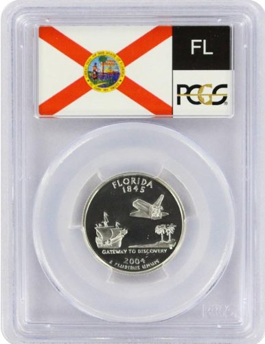 2004 Florida State S Silver Proof Quarter PR-69 ()