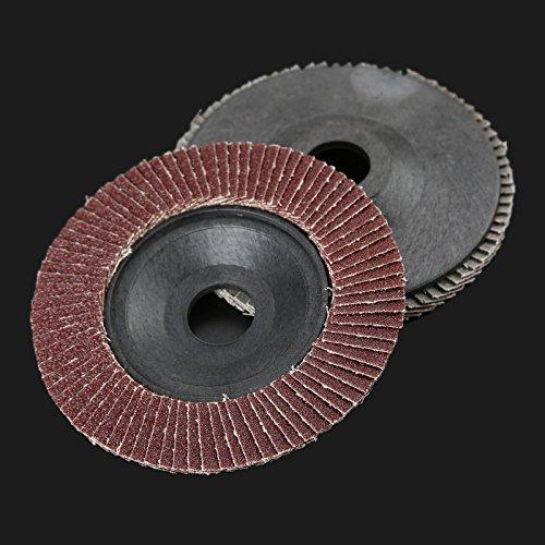 Dophee 10Pcs 4'' 125mm 60# Grit Polishing Buffing Pad Grinder Flap Sanding Disc Grinding Wheel by dophee (Image #3)