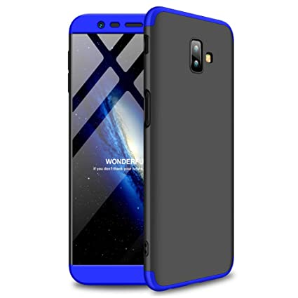 buy popular 9f7f9 3e61d eCosmos ® for Samsung Galaxy J6 Plus Back Case Cover: Full Body 3-in-1 Slim  Fit Complete 3D 360 Degree Protection Hybrid Hard Bumper (Blue and Black)