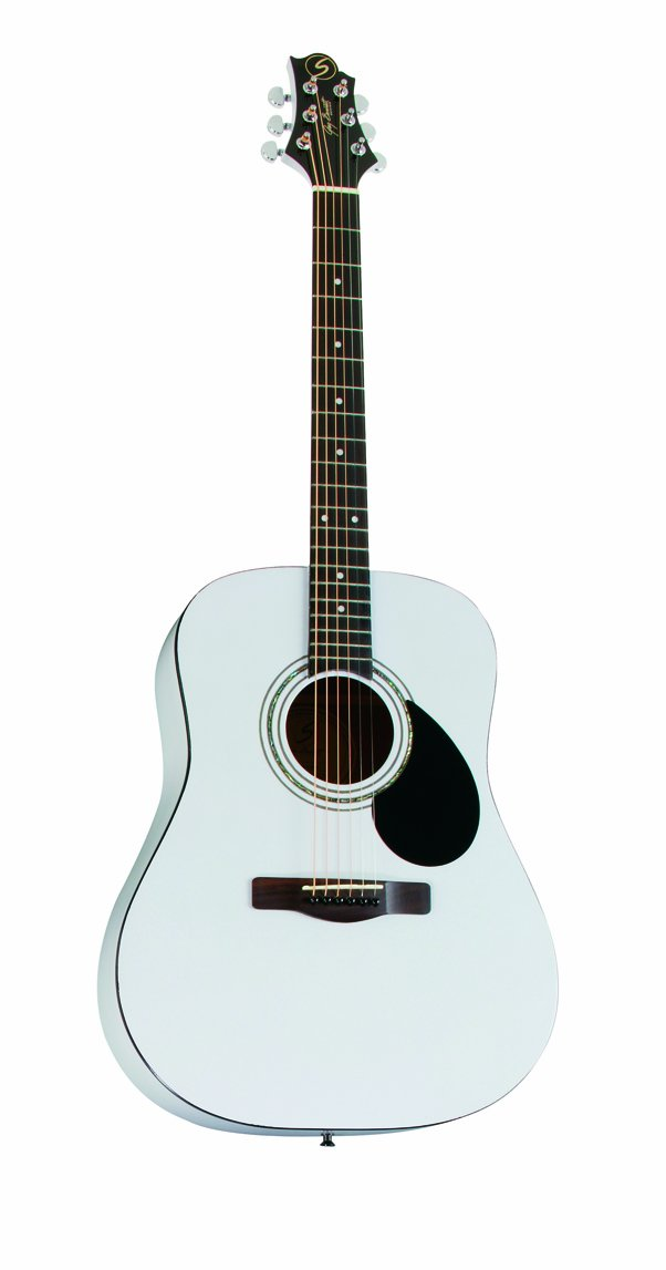Greg Bennett Design Gold rush D1 PW Dreadnought Acoustic Guitar, Pearl White by Greg Bennett Design