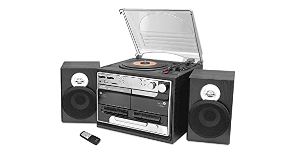 Amazon.com: Pyle Home pttcsm60 Turntable Boombox con CD/MP3 ...